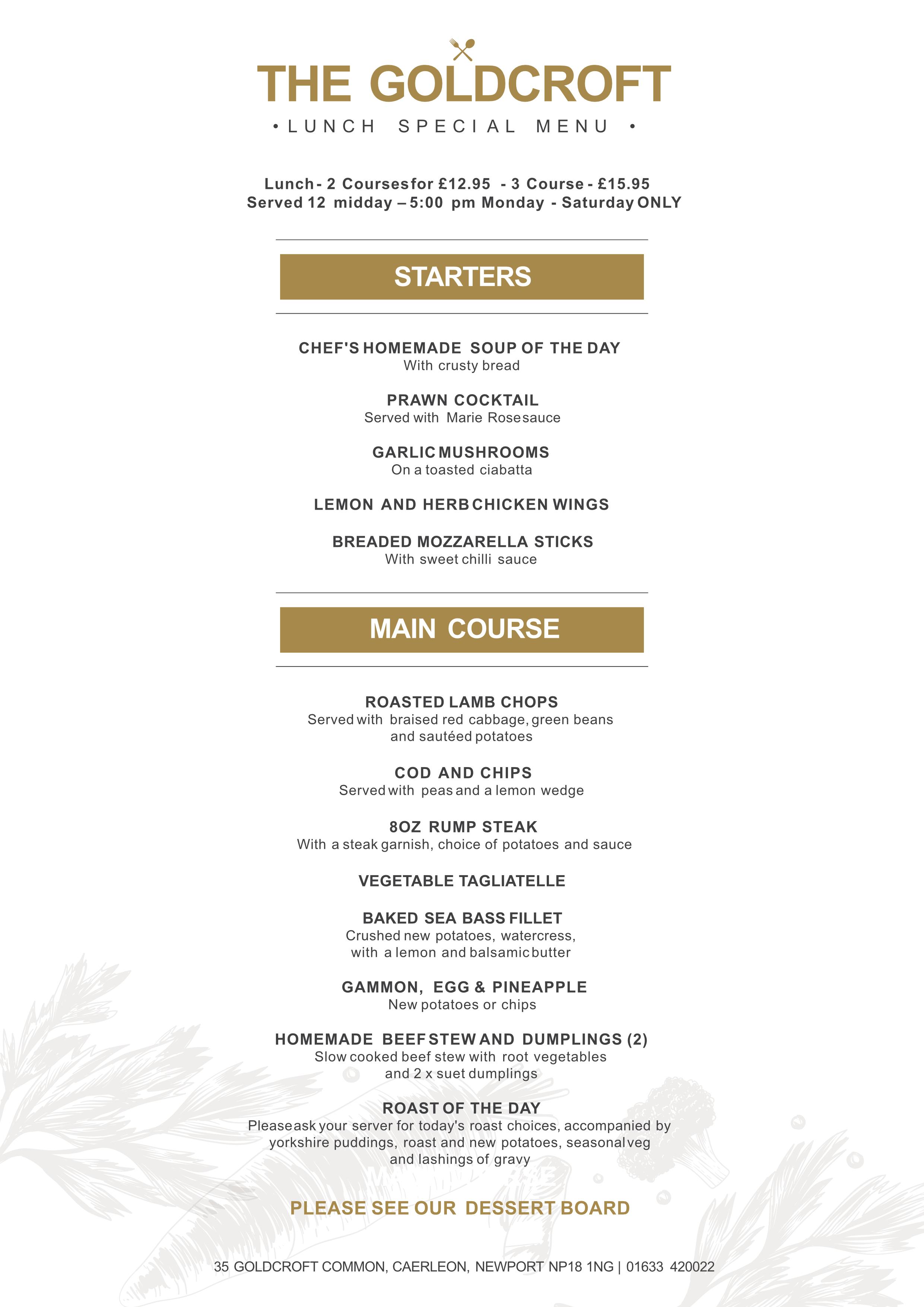 Goldcroft A5 Lunch Special Menu (1)