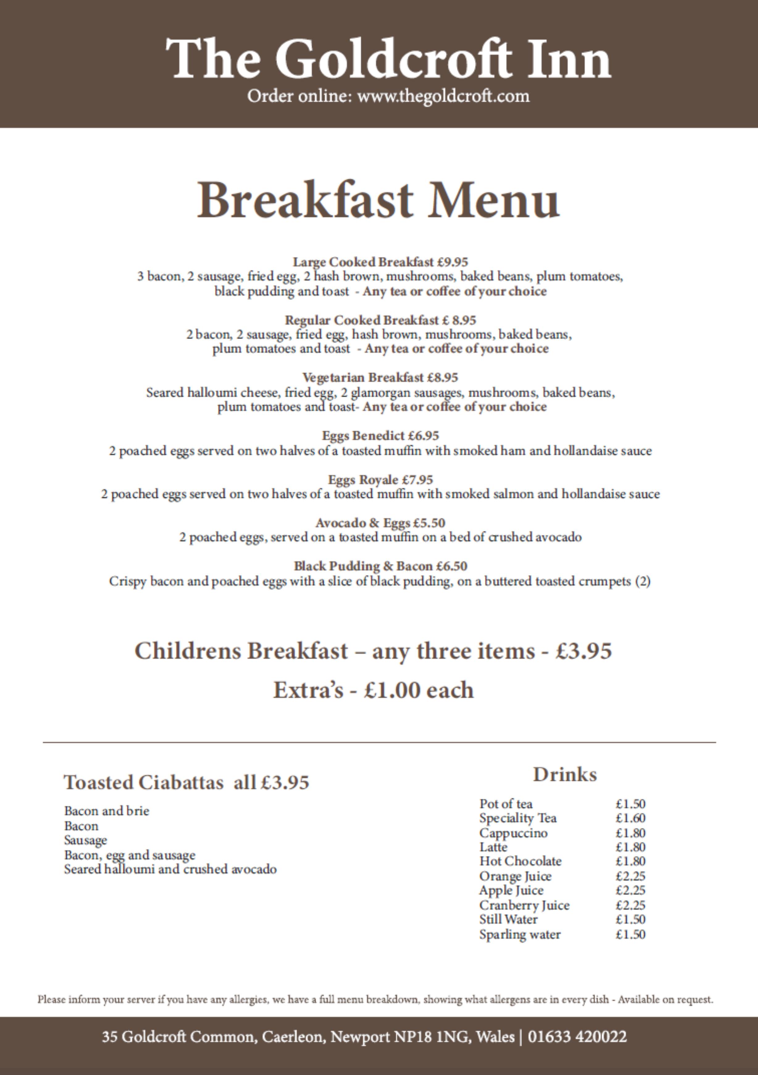 Goldcroft Breakfast